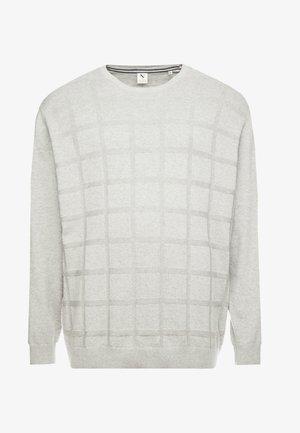 GEOMETRIC PATTERN O-NECK - Pullover - grey melange