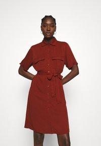 Zign - Shirt dress - dark red - 0