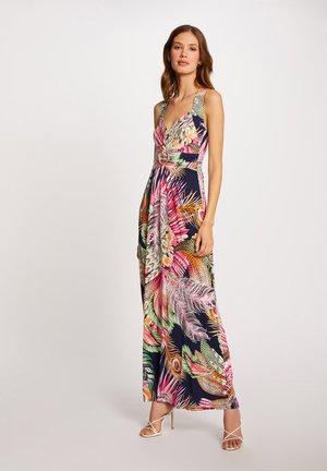 WITH VEGETAL PRINT - Maxi dress - dark blue