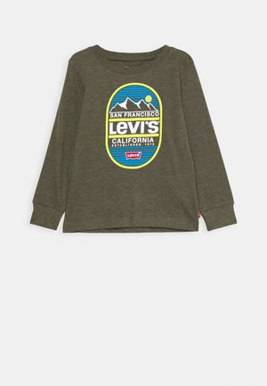 GRAPHIC - Long sleeved top - olive night heather