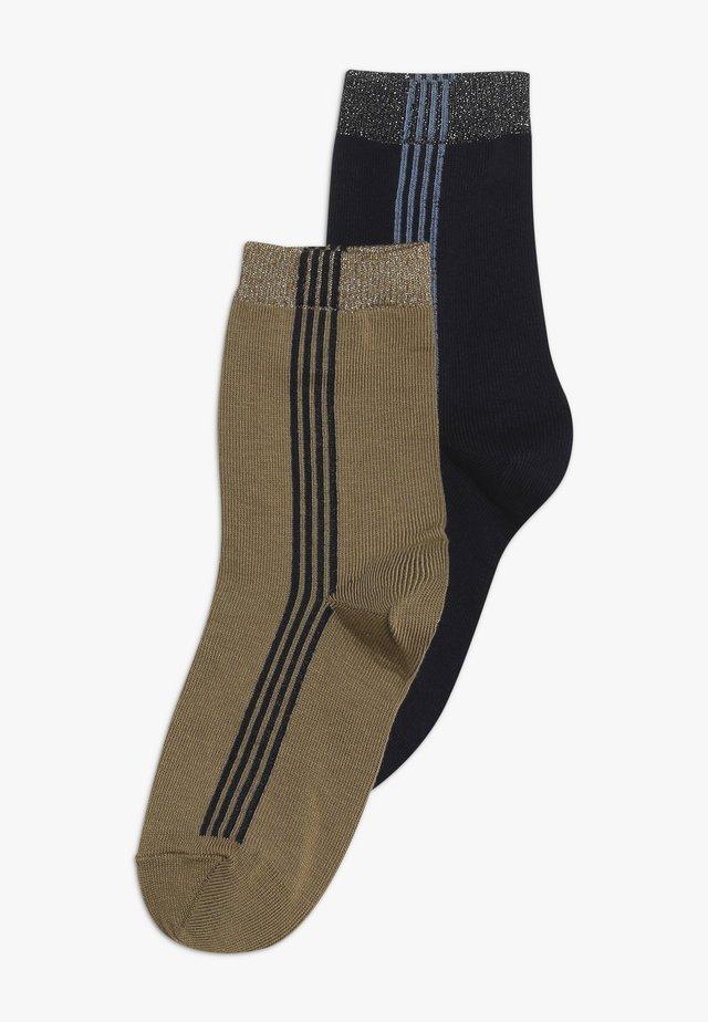 LAMIIUM 2 PACK - Socks - deep navy/mustard