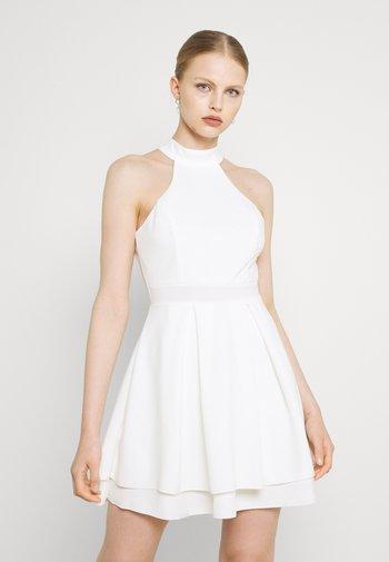 CHERYL HALTER NECK SKATER DRESS - Jersey dress - white