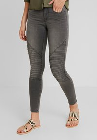 ONLY - ONLROYAL BIKER - Jeans Skinny Fit - dark grey denim - 0