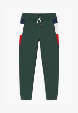 GLOBAL DETAIL MELANGE - Jogginghose - green