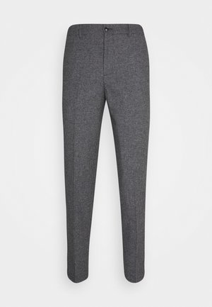 SLHSLIMTAPERED THEO PANTS - Trousers - grey/houndstooth
