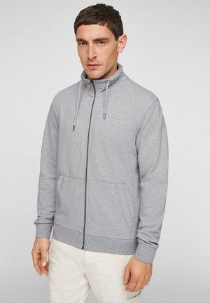 MIT STEHKRAGEN - Zip-up hoodie - grey melange