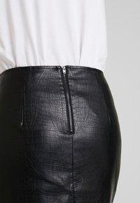 Esprit Collection - FAKE CORCODILE - Pennkjol - black - 4