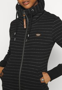 Ragwear - RYLIE STRIPE ZIP - Zip-up hoodie - black - 5