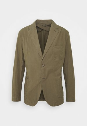 DECONSTRUCTED SEERSUCKER - Veste de costume - military green