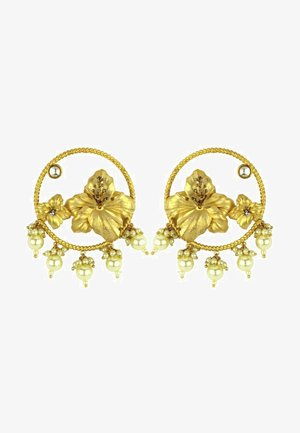 HIBISCUS WITH PEARL - Korvakorut - gold