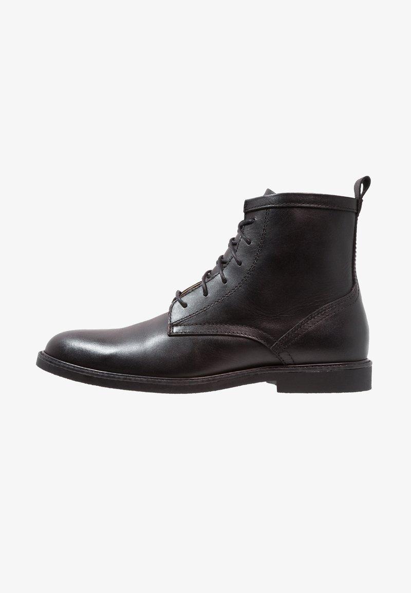 Zign - LEATHER - Šněrovací kotníkové boty - black
