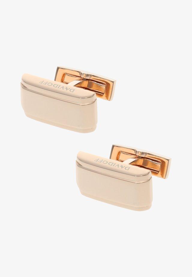 Cufflinks - rose gold-coloured