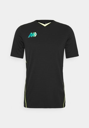 DRY - T-shirt con stampa - black/volt
