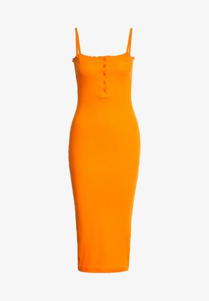 LETTUCE EDGE MIDI DRESS - Jerseyjurk - orange