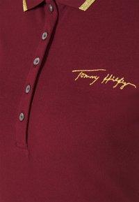 Tommy Hilfiger - SLIM GOLD SCRIPT - Polo shirt - deep rouge - 2