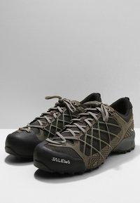 Salewa - MS WILDFIRE - Climbing shoes - black/olive/silberia - 2