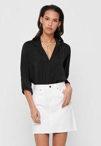 JDY - Button-down blouse - black - 0
