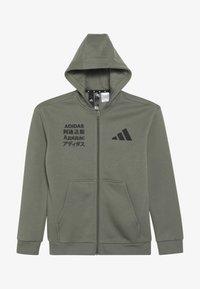 adidas Performance - veste en sweat zippée - dark green - 3