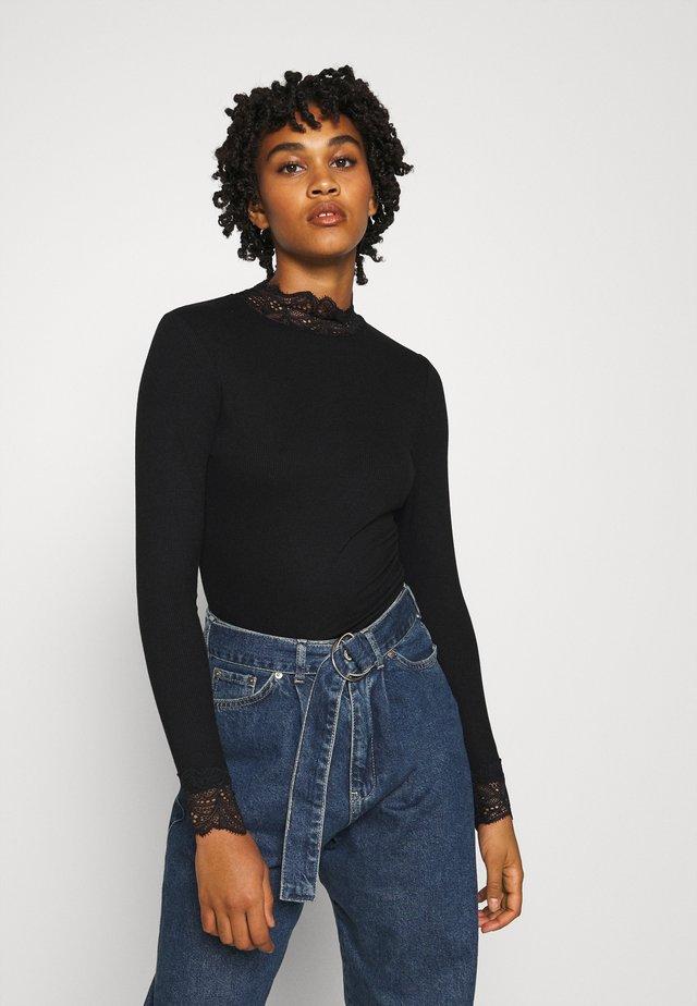 TOELLA - T-shirt à manches longues - black