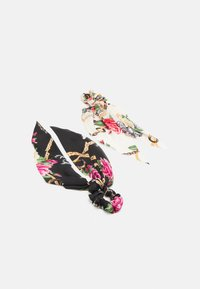 Pieces - PCANJULIA BOW SCRUNCHIE 2 PACK - Hair styling accessory - black/multi-coloured - 0