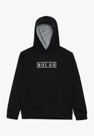 AIR HOODIE - Hoodie - black/dark grey heather/white