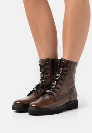 Lace-up ankle boots - kuba mud