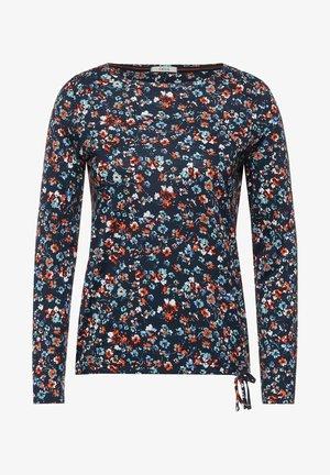 MIT BLUMEN MUSTER - Long sleeved top - blau