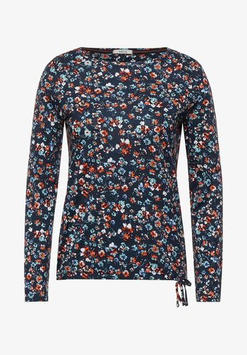 MIT BLUMEN MUSTER - Långärmad tröja - blau