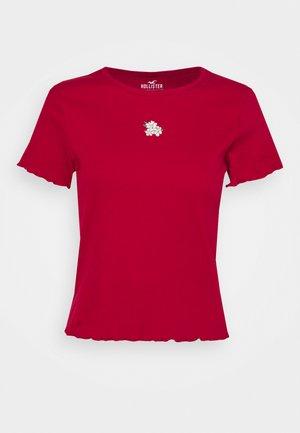 MAY TEE - Print T-shirt - red