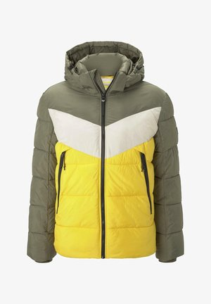 Winter jacket - tri color colorblock