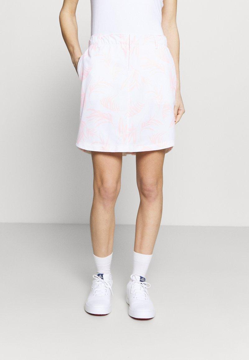 Under Armour - LINKS PRINTED SKORT - Sports skirt - white