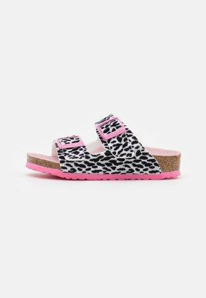 ARIZONA KIDS LEO - Ciabattine - black/pink