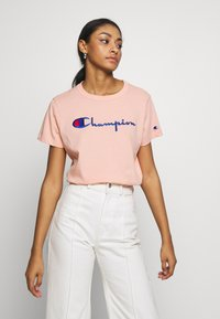 Champion Reverse Weave - CREWNECK  - Print T-shirt - salmon - 0