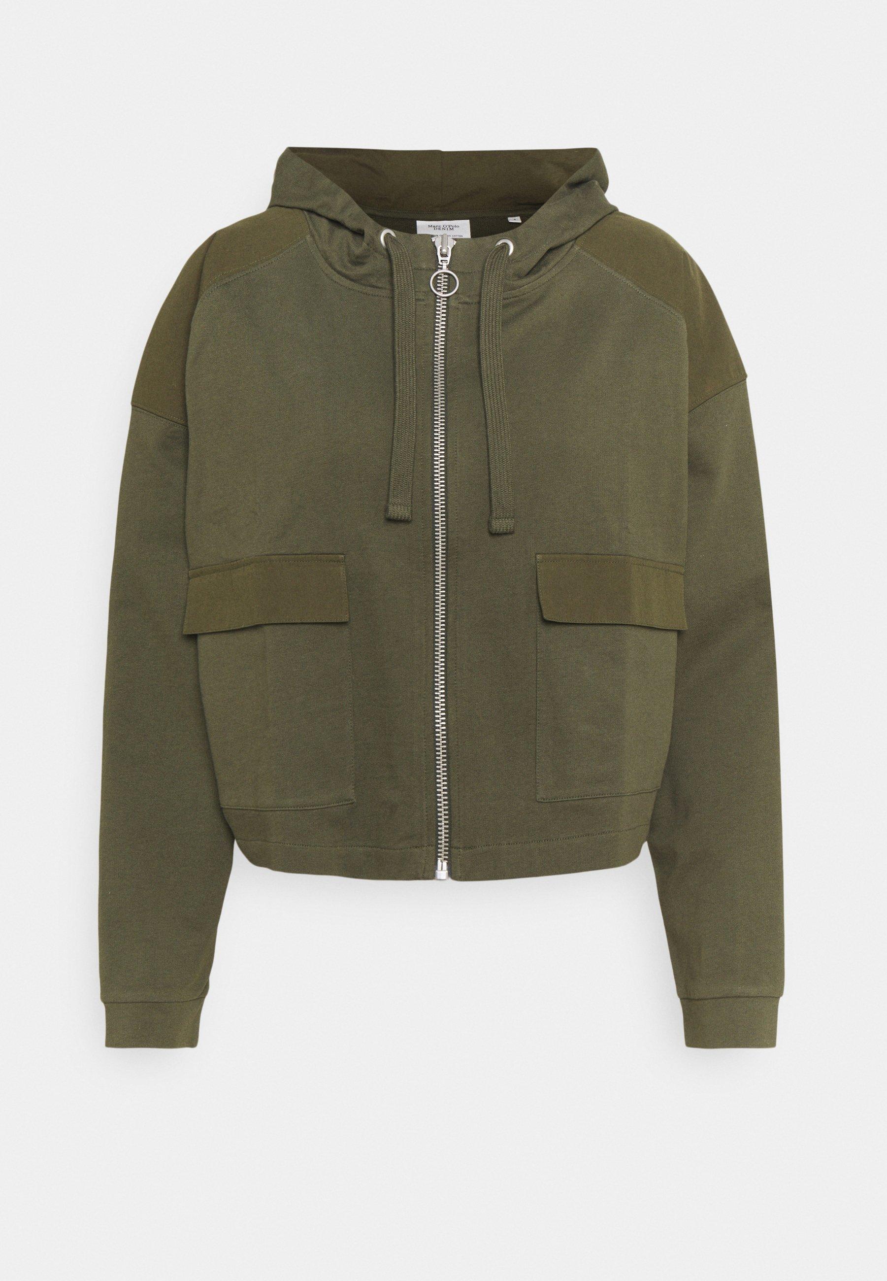 Women JACKET LONGSLEEVE HOODED - Zip-up sweatshirt