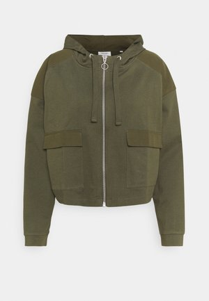 JACKET LONGSLEEVE HOODED - Sweatjacke - deep depth