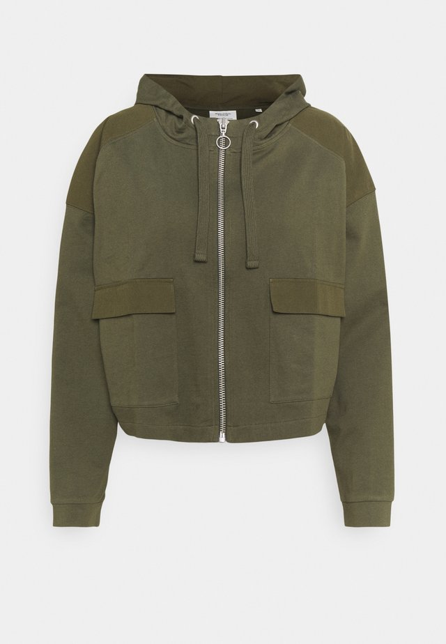 JACKET LONGSLEEVE HOODED - Felpa aperta - deep depth