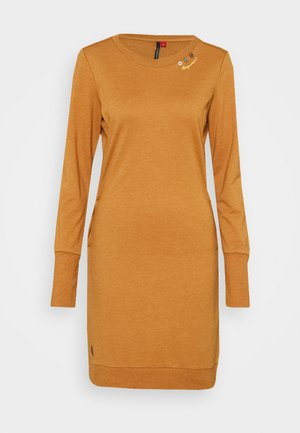MENITA - Day dress - cinnamon