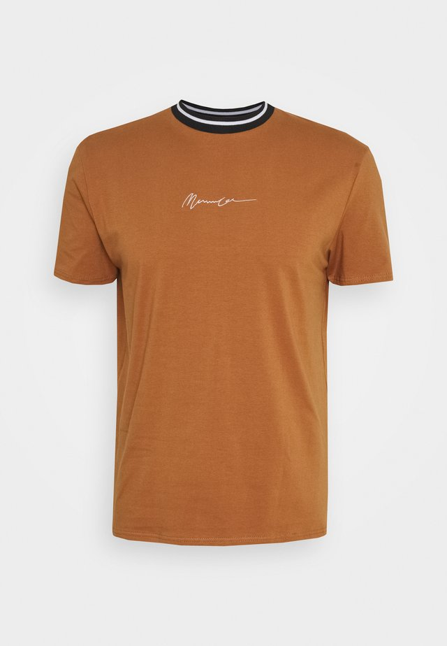 ESSENTIAL STRIPE NECK UNISEX - T-shirt print - terracota