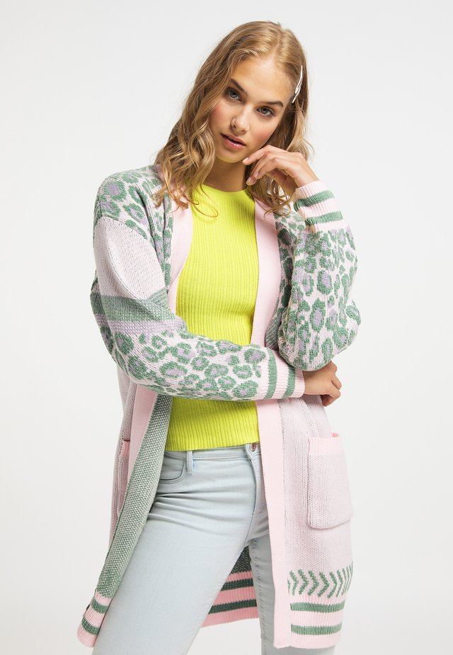 Neuletakki - multicolor rosa