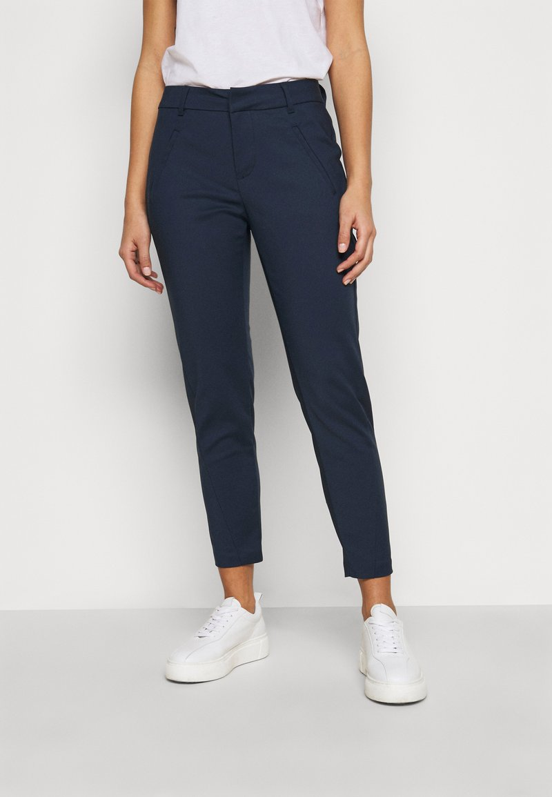 Vero Moda Petite - VMVICTORIA ANTIFIT ANKLE PANTS  - Trousers - navy