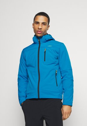 MAN JACKET ZIP HOOD - Softshellová bunda - river blue ink