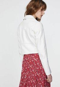 IKKS - Leather jacket - blanc cassé - 1