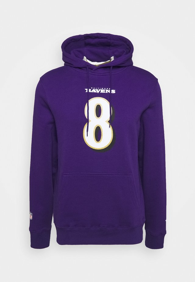 NFL LAMAR JACKSONBALTIMORE RAVENS ICONIC NAME & NUMBER GRAPHIC  - Club wear - purple