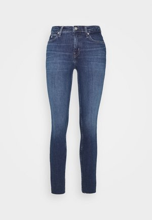 MID RISE SKINNY ANKLE - Jeans Skinny Fit - dark blue embro