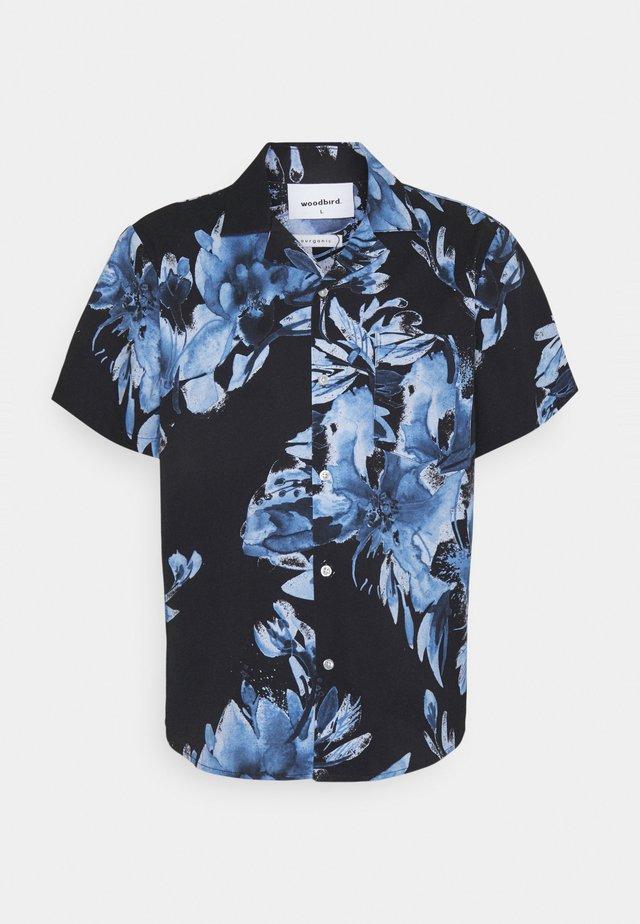 BLEEVER FLOWER SHIRT - Camicia - black