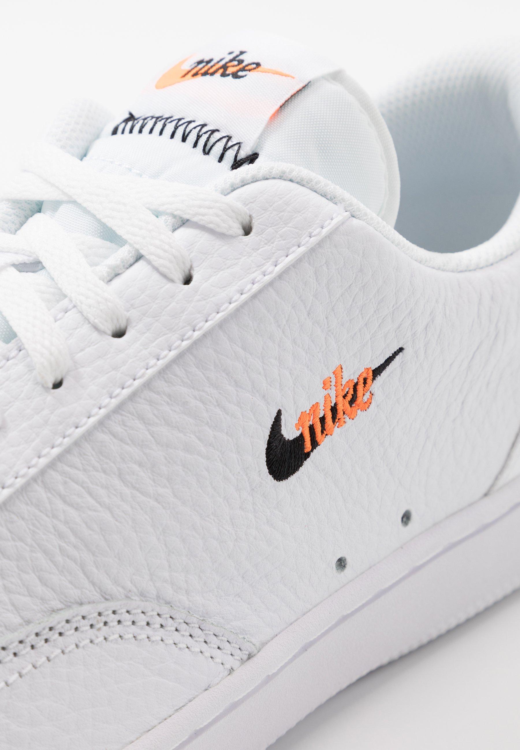 COURT VINTAGE UNISEX - Baskets basses - white/black/total orange