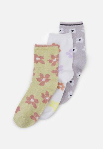 PCVIBBI 3 PACK - Socks - pale banana