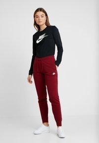 Nike Sportswear - TEE ICON - Topper langermet - black/white - 1