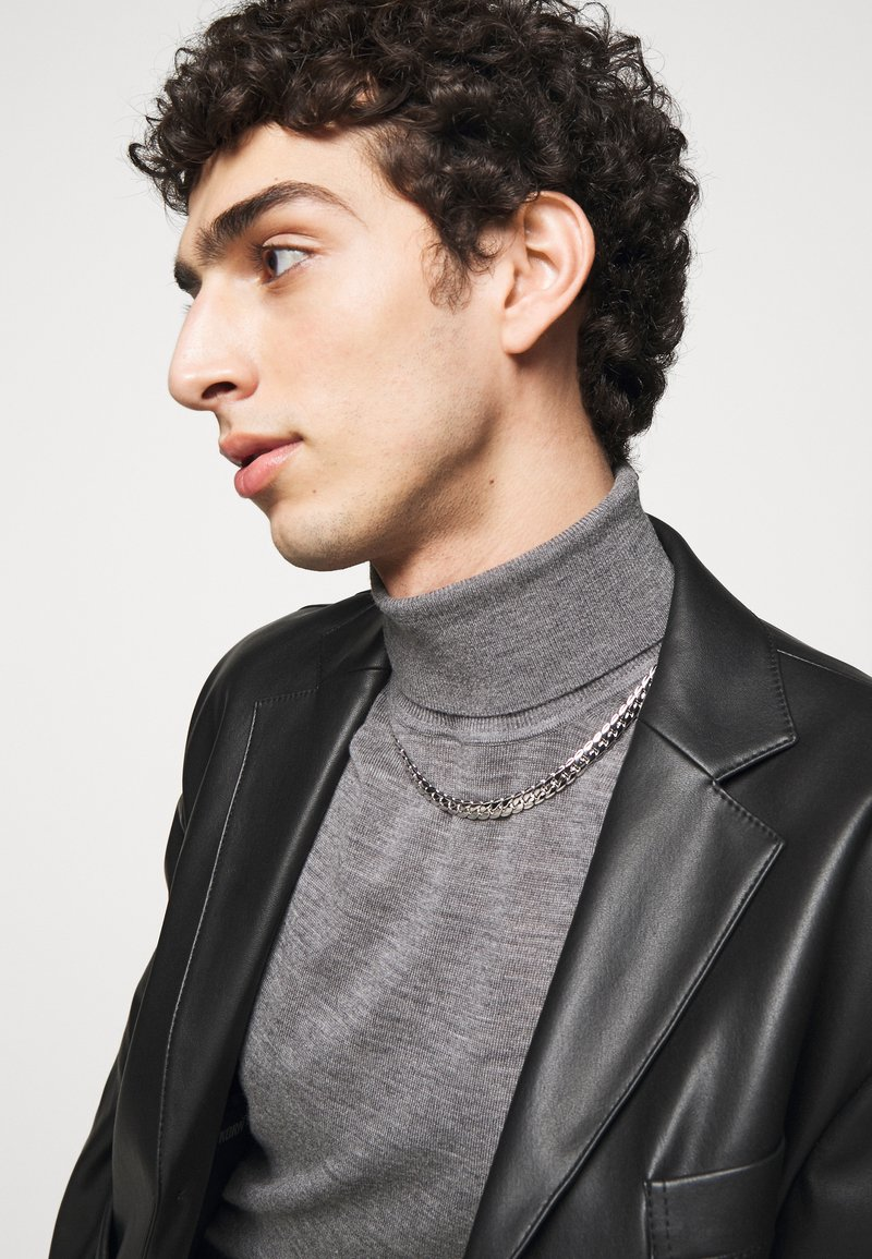 Northskull - EXCLUSIVE CURB NECKLACE UNISEX - Necklace - silver-coloured