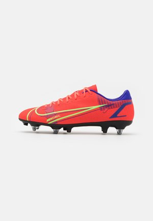 MERCURIAL VAPOR 14 ACADEMY SG-PRO AC - Screw-in stud football boots - bright crimson/metallic silver